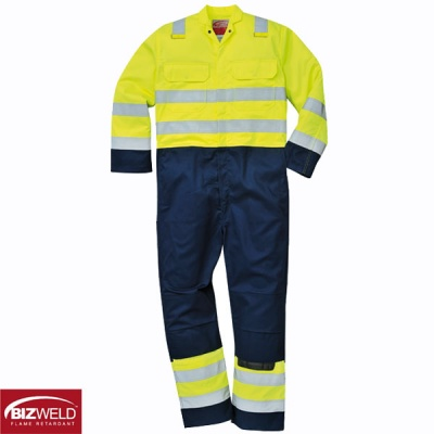 BizWeld Anti Static Flame Retardant Hi Vis Coveralls - BIZ7
