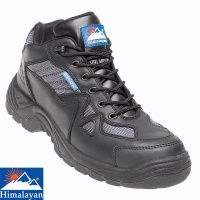 Himalayan Black Leather TPU Safety Cross Trainer - 4010