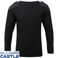 Blue Castle Crew Neck Combat Jumper - 120