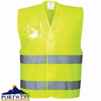 Hi-Vis Vest with ID Holder - C475