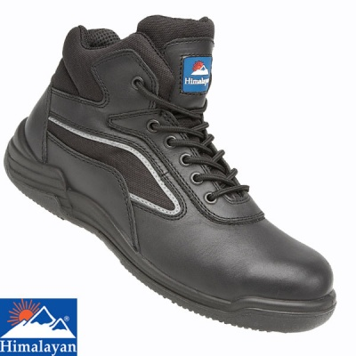 Himalayan Black Leather Safety Boot - 4203
