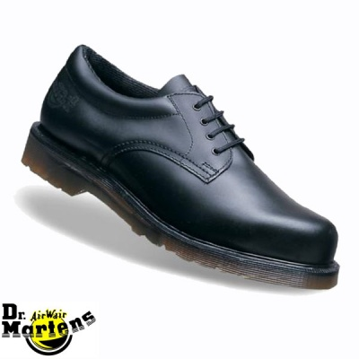 DR MARTENS Icon Black Leather Lace Padded Ankle Safety Shoe - 6735