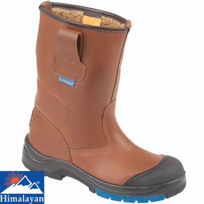 Himalayan Brown HyGrip Warm Lined Safety Rigger Boots - 9105