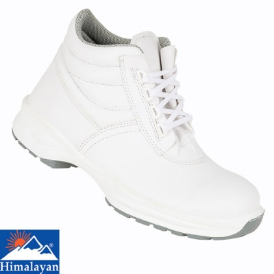 Himalayan White Microfibre Lace Up Boot - 9952