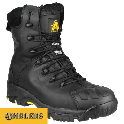 Amblers High Leg Thinsulate Lined Boot Black - FS999