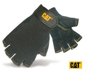 Cat Half Finger Pig Skin Gloves - 12202