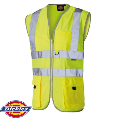 Dickies Hi Vis Technical Safety Waistcoat - SA22020