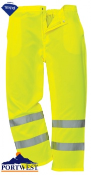 Portwest Hi-Vis Poly Cotton Trousers - E041