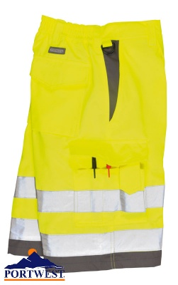 Portwest Hi Vis Shorts  - E043