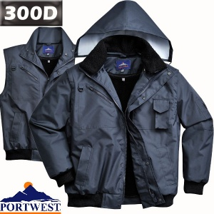 3 in 1 Waterproof Bomber Jacket - F465