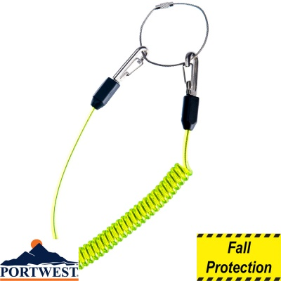 Portwest Coiled Tool Lanyard (Qty 10) - FP46