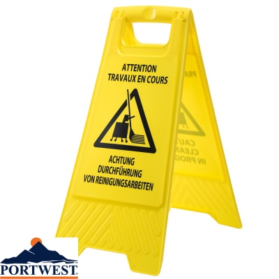 Portwest Euro Cleaning In Progress Sign - HV22