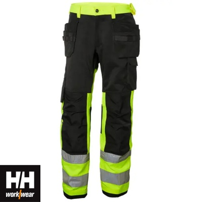 Helly Hansen Alna Class 1 Hi Vis Construction Trousers - 77412