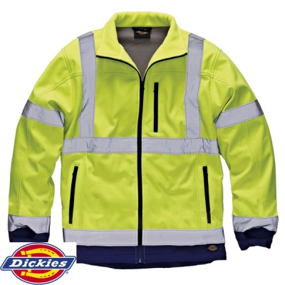 Hi-Vis Two Tone Soft Shell Jacket - SA2007