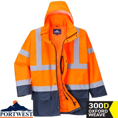 Portwest Essential 5-in-1 Hi Vis Two-Tone Jacket - S766