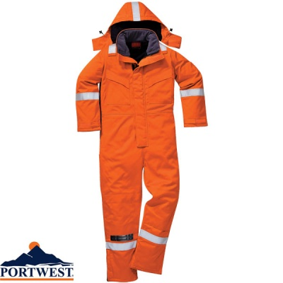 Portwest Flame Retardant Araflame Insulated Winter Coverall  - AF84