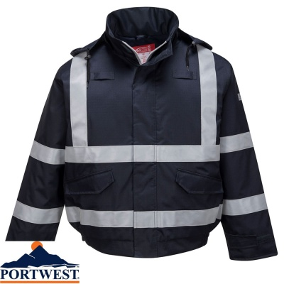 Portwest Bizflame Rain Flame Retardant Multi Protection Bomber Jacket  - S783