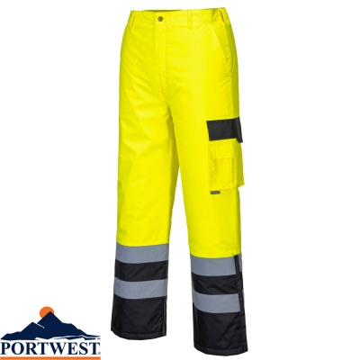 Portwest Hi-Vis Contrast Trousers Lined - S686