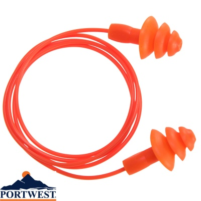 Portwest Reusable TPE Corded Ear Plug - EP04