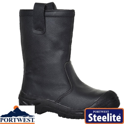 Portwest Steelite Rigger Safety Boot Scuff Cap S3 - FW29