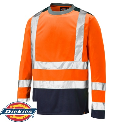 Dickies Long Sleeve Two Tone Hi-Vis T-Shirt - SA22082
