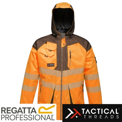 Regatta Tactical Hi Vis Jacket Waterproof Windproof Breathable - TRA340