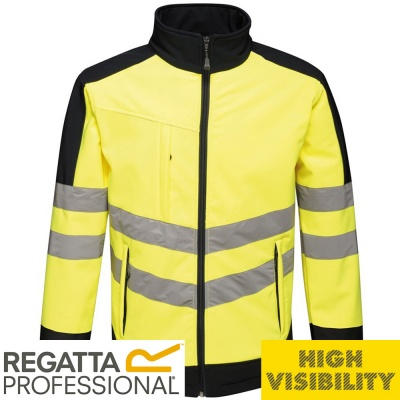 Regatta Hi Vis Pro 3 Layer Breathable Softshell Jacket  - TRA625