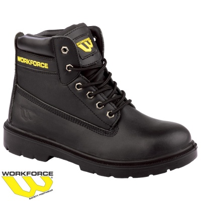 WorkForce Black Leather Safety Boot - WF302P