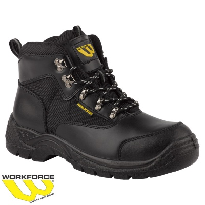WorkForce Black Leather Safety Boot - WF41P