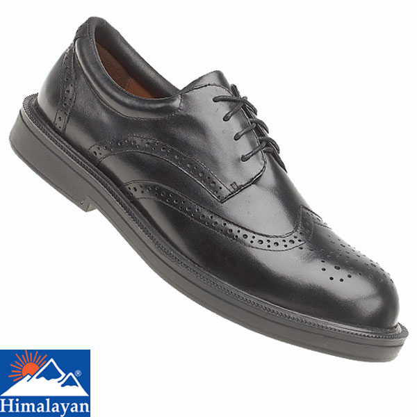 All Black Leather Work Shoes