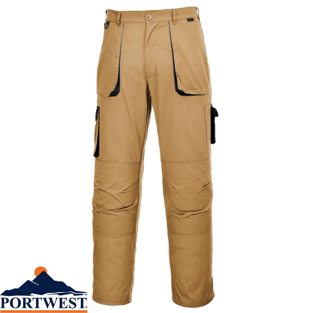 Workwear Contrast Trousers Portwest Elasticated Work Pants Texo TX11 Kneepad