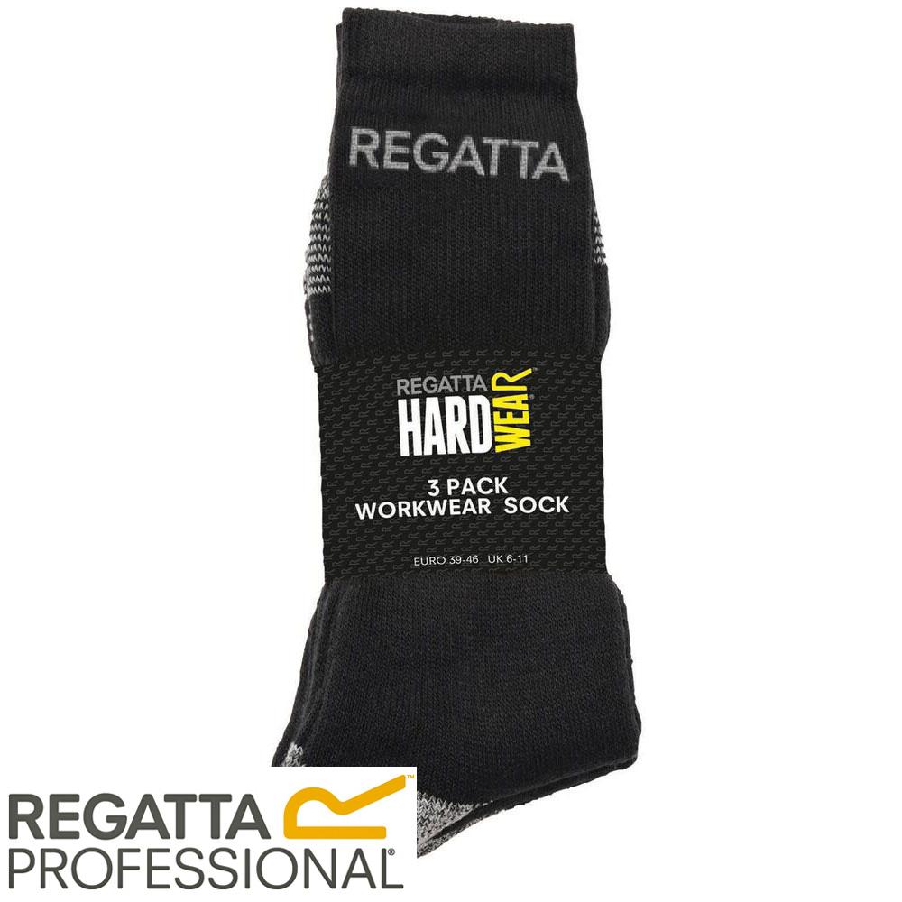 Regatta Men/'s Workwear Socks Black