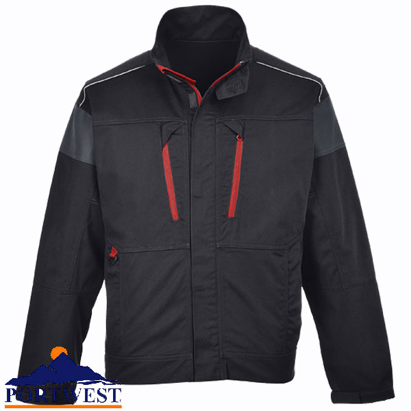 navy or grey contrast lined winter jacket small-3XL Portwest TX18 Texo black