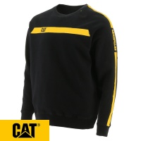 Cat Icon Stripe Crew Neck Sweater - 1910100