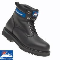 Himalayan Black Goodyear Welted Safety Boot - 3100