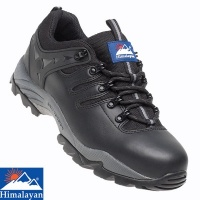 Himalayan Black Leather Gravity Safety Trainer - 4020