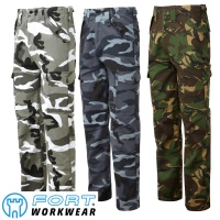 Fort Camouflage Combat Trousers - 901C
