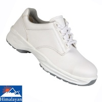 Himalayan White Microfibre Lace Up Shoe - 9951