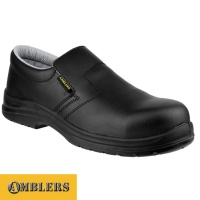 Amblers Black ESD Slip-on Shoe - FS661