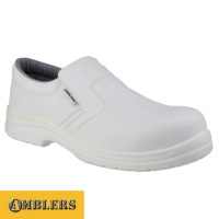 Amblers White Hygiene Slip-on Shoe - FS510