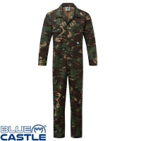 Blue Castle Camo Stud Front Boilersuit - 334