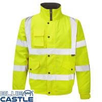 Blue Castle Hi Vis Bomber Jacket - 265
