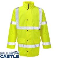 Blue Castle Hi Vis Motorway Jacket - 210