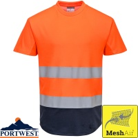 Portwest Two-Tone Hi Vis Mesh T-Shirt - C395