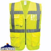 Portwest Madrid Executive Hi Vis Mesh Vest - C496