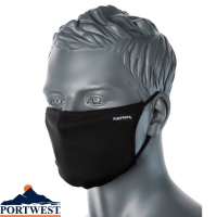 Portwest Face Mask 3 Ply Fabric (25 Pack) - CV30
