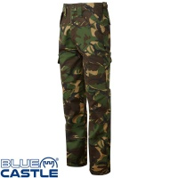 Blue Castle Camo Combat Trousers - 901C
