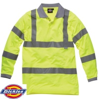 Dickies High Visibility Long Sleeve Polo Shirt - SA22077