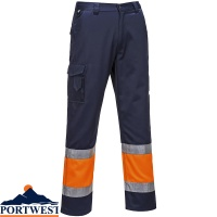 Portwest Hi-Vis Two Tone Combat Trousers - E049