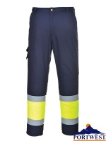Hi-Vis Two Tone Combat Trousers - E049